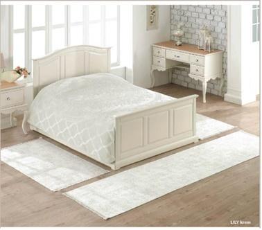 Soley 3'Lü Yatak Odası Halı Seti Lily Krem
